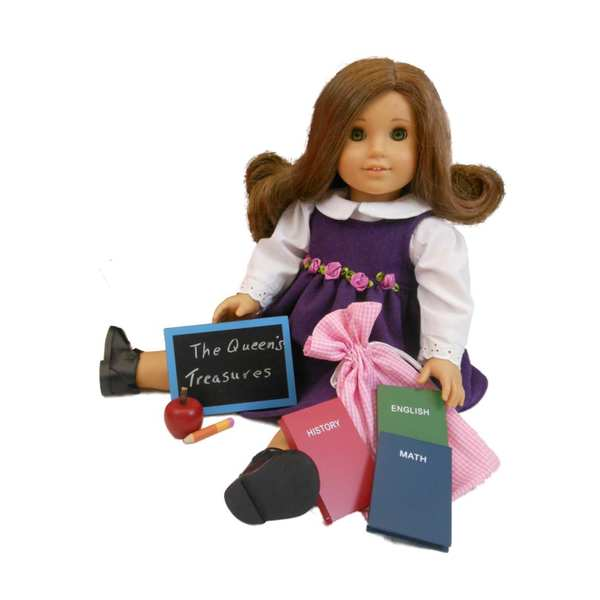 """The Queen's Treasures 6 pc School Supply Accessory Set for 18"""" Dolls & Furniture"""