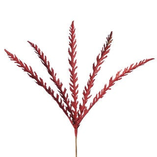 Vickerman Red 22-inch Soap Plant Glitter Spray (Pack of 6)