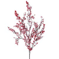 "23"" Snowy Artificial Red Berry Decorative Christmas Spray"