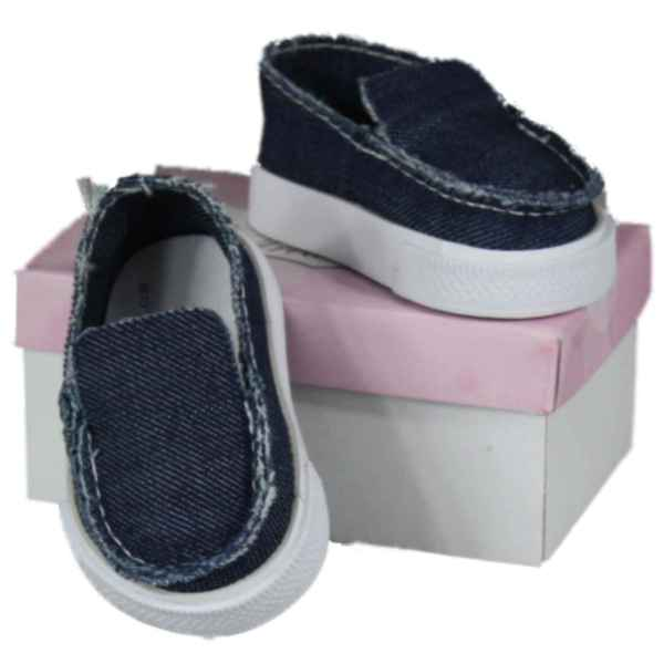 """The Queen's Treasures Blue Canvas Shoe fits 18"""" Girl Dolls"""