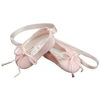 """The Queen's Treasures Pink Ballet Slipper Shoes for Use With 18"""" Dolls and Doll Clothing"""