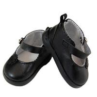 "The Queen's Treasures Black Mary Jane Style Dress Shoes for Use With 18"" Dolls and Doll Clothing"