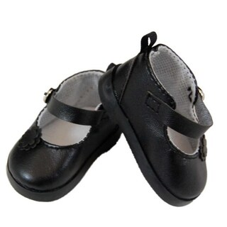 """The Queen's Treasures Black Mary Jane Style Dress Shoes for Use With 18"""" Dolls and Doll Clothing"""