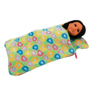 The Queen's Treasures Green Sleeping Bag For 15-inch and 18-inch Dolls