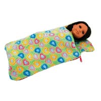 "The Queen's Treasures Green Sleeping Bag Fits 15"" and 18"" Girl Dolls"