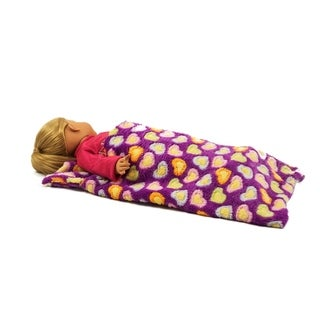 """The Queen's Treasures Purple Sleeping Bag Fits 15"""" and 18"""" Girl Dolls"""