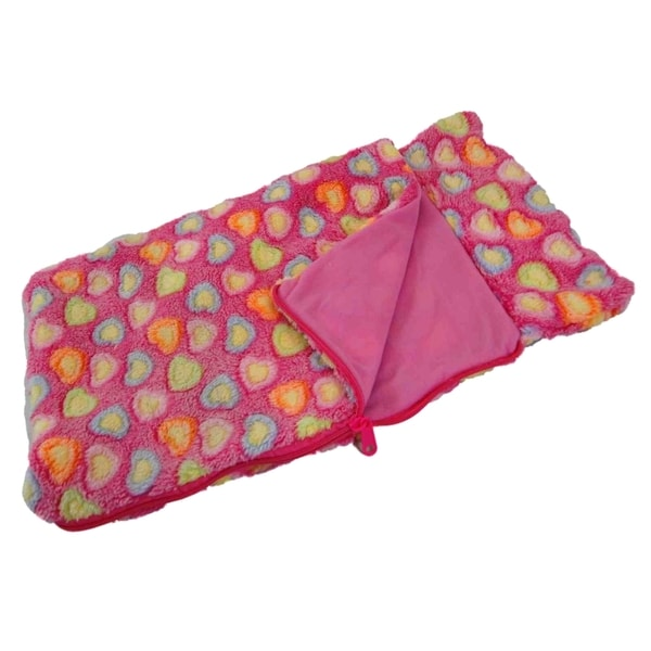 """The Queen's Treasures Pink Sleeping Bag Fits 15"""" and 18"""" Girl Dolls"""