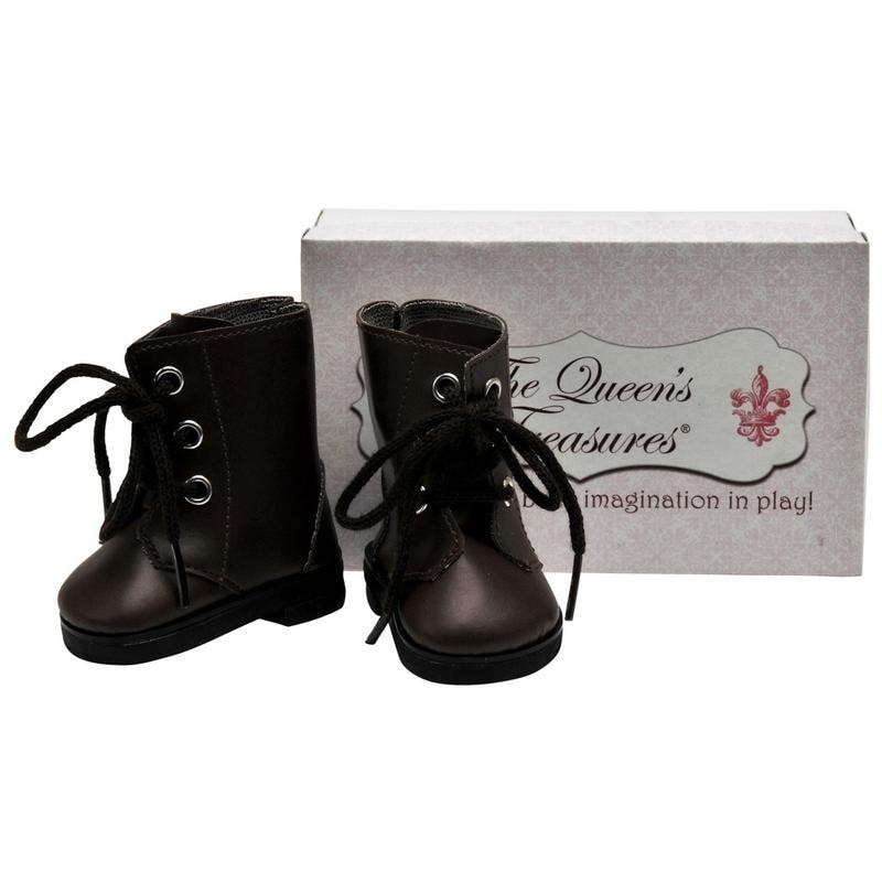 The Queen's Treasures Brown Lace Up Shoe Boots for Use Wi...