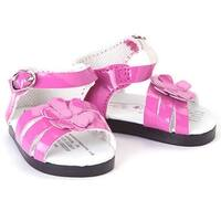 "The Queen's Treasures Pink Strappy Sandal Shoes for Use With 18"" Dolls and Doll Clothing"