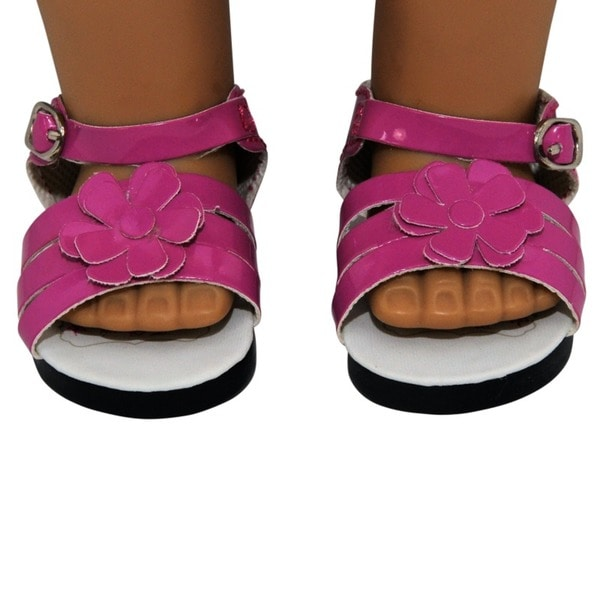"""The Queen's Treasures Pink Strappy Sandal Shoes for Use With 18"""" Dolls and Doll Clothing"""