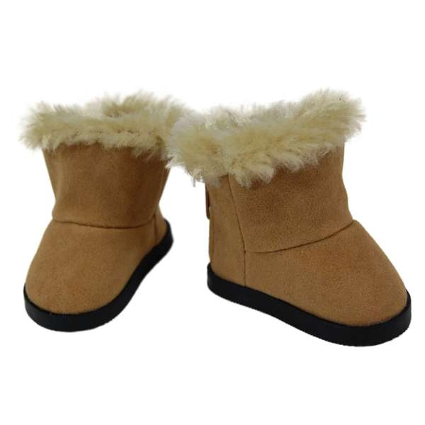 """The Queen's Treasures Sherpa Style Boot Shoes for Use With 18"""" Dolls and Doll Clothing"""