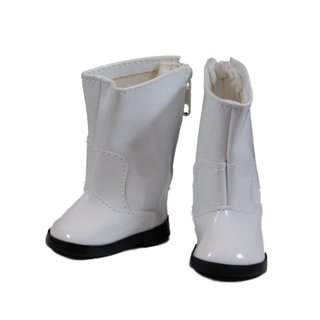 "The Queen's Treasures White Go Go Boot Shoes for Use With 18"" Dolls and Doll Clothing"
