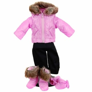 "The Queen's Treasures Bitty Pink Snow Suit & Boots Doll Clothing Outfit for 15"" Baby Twin Doll Clothes"