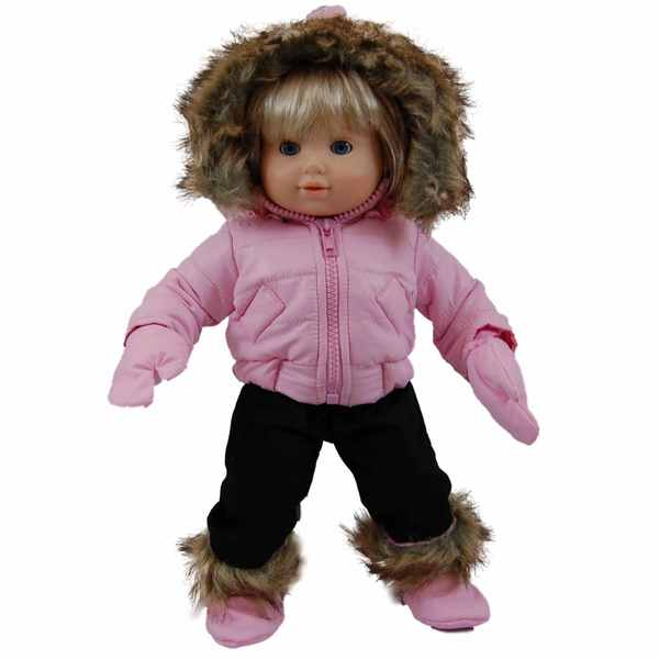 """The Queen's Treasures Bitty Pink Snow Suit & Boots Doll Clothing Outfit for 15"""" Baby Twin Doll Clothes"""