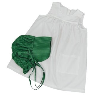 The Queen's Treasures Officially Licensed Little House on the Prairie Child-size Apron and Bonnet