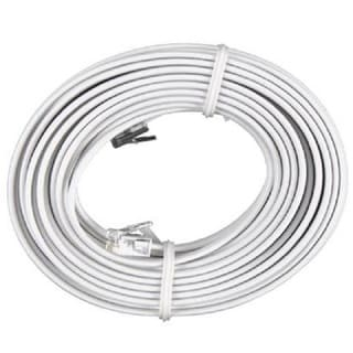 Permo White 100-foot Telephone Extension Cord
