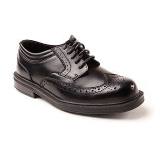 Deer Stags Men's Tribune Leather Wing-Tip Comfort Oxfords