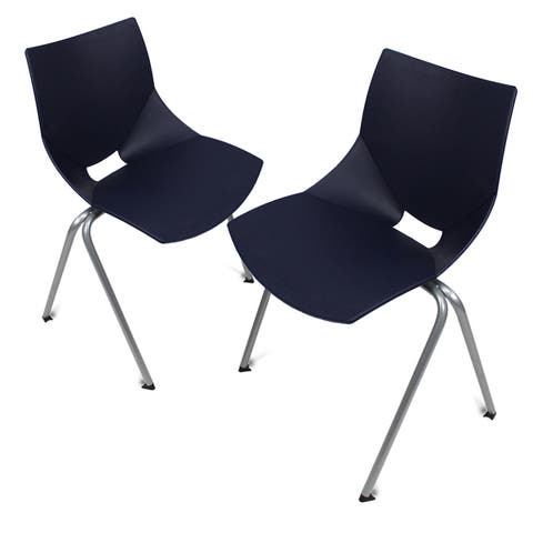 Shell Outdoor Chairs Durable Plastic with Epoxy coated Steel legs