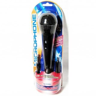 Black Unidirectional On/Off Switch Microphone With 8-feet Cord and 3.5-millimeter Plug