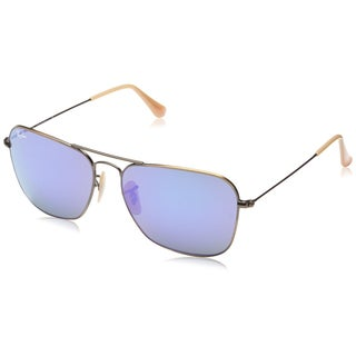 Ray-Ban Mens Caravan Sunglasses (RB3136) Bronze Matte/Purple Metal, 58MM