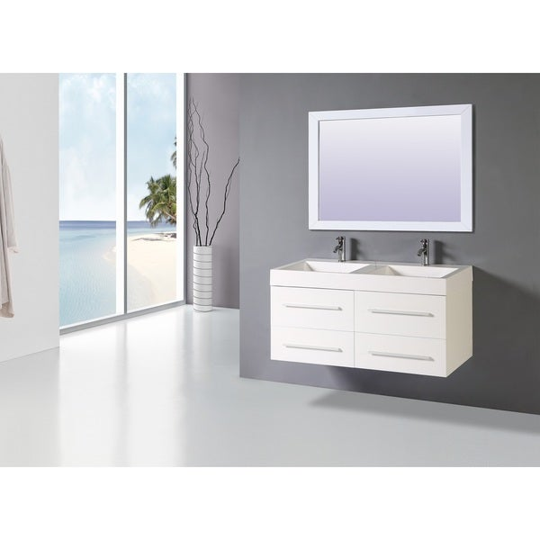 Shop Legion Furniture White 48-inch Sink Vanity - Free ...