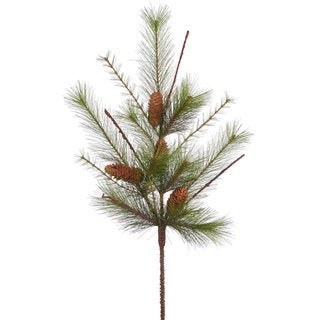 Vickerman Plastic 30-inch Mixed Mountain Pine Spray with Cones and 14 Tips