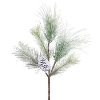 Vickerman 28-inch Frosted Norway Pine Spray with Cones and 5 Tips