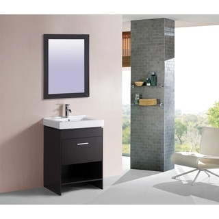 Avanity provence 24 inch single vanity in antique cherry finish with - Ica Furniture Lucina Single Sink Bathroom Vanity Free