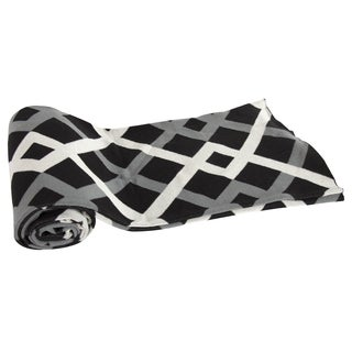 Cotton Black/ White Geometric Throw Blanket