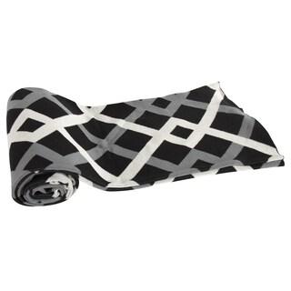 Cotton Black/ White Geometric Throw Blanket