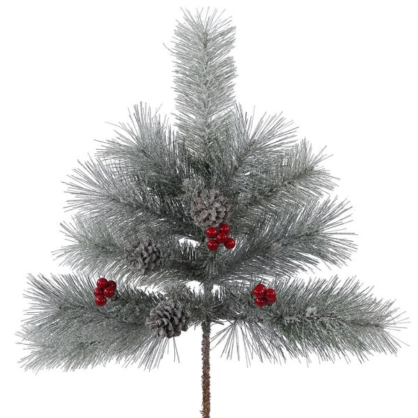 Shop Vickerman 24-inch Frosted Mix Berry Pine Spray With 12 Tips - Overstock