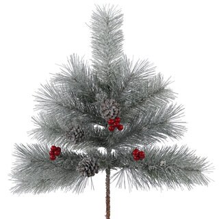 Vickerman 24-inch Frosted Mix Berry Pine Spray with 12 Tips