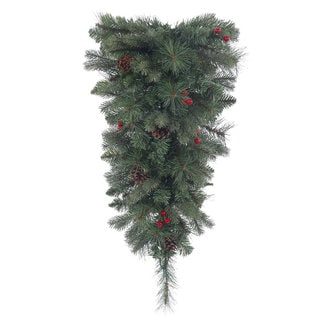 Vickerman 30-inch Wesley Mixed Pine Teardrop Swag with 80 Tips