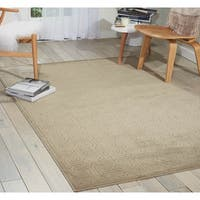 Nourison Ultima Light Grey Area Rug - 5'3 x 7'5