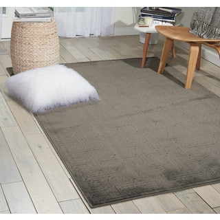 Nourison Ultima Dark Grey Area Rug (5'3 x 7'5)