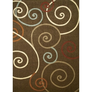 Chelsea Collection Tendrils Polypropylene Rug (6'7 x9'3 )