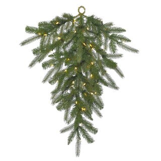 Vickerman 36-inch Dunhill Fir Teardrop Swag With 40 Clear Dura-lit Lights