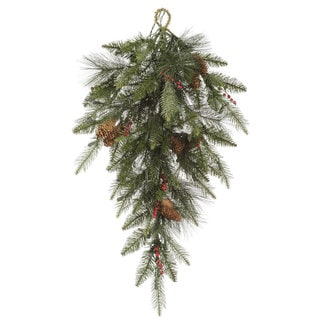 Vickerman 32-inch Vallejo Mix Pine Berry Teardrop Swag With 80 Tips