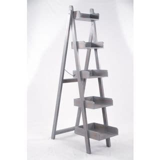 Progressive Luisa Blue/Grey Wood Ladder Display Shelving