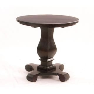 Maria Espresso Wooden Accent Side Table