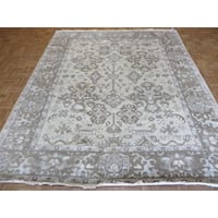 Oriental Hand-knotted Beige Oushak with Wool Hand-knotted Rug - 8'3 x 9'11
