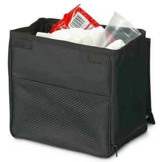 High Road TrashStand Black Polyester Leakproof and Weighted Car Trash Basket