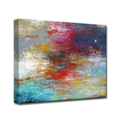 Strange Currents' by Norman Wyatt Jr. Wrapped Canvas Wall Art