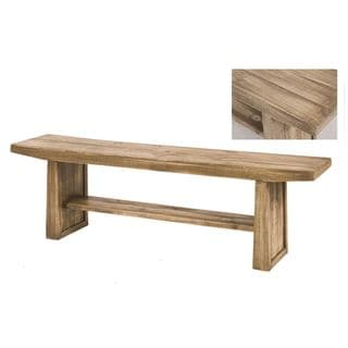 Arturo Brown Wood Bench