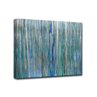 Arctic Rain' by Norman Wyatt Jr. Abstract Wrapped Canvas Wall Art