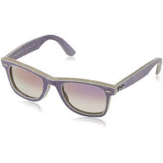 Ray Ban RB2140 Wayfarer Denim Sunglasses, Violet/Violet Gradient, 50MM