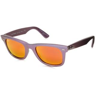 Ray-Ban RB2140 Wayfarer Cosmo Sunglasses, Metallic Oil/Orange Flash, 50MM