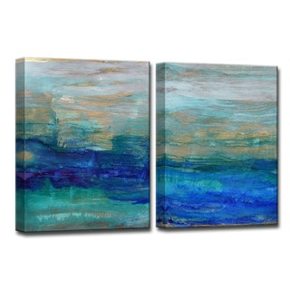 Sea Spray' by Norman Wyatt Jr. Abstract Wrapped Canvas Wall Art