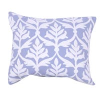 Nlue Polyester 18 inch x 18-inch Poly-filled Embroidered Pillow