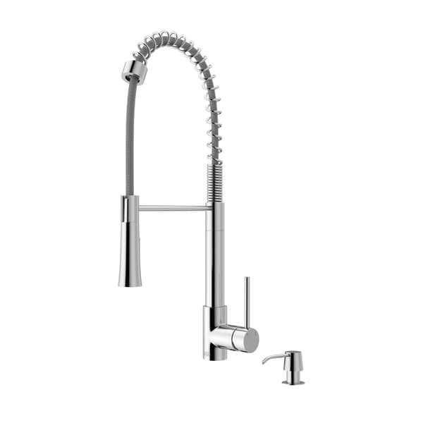Shop Vigo Laurelton Chrome Pull Down Spray Kitchen Faucet With Soap